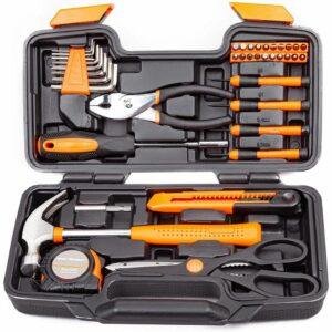 La mejor opción de herramientas manuales: Juego de herramientas manuales CARTMAN de 39 piezas con estuche