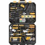 La mejor opción de herramientas manuales: DEKOPRO Juego de herramientas manuales mixtas de 168 piezas con estuche