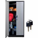 La mejor opción de gabinetes de garaje: gabinetes de almacenamiento Fedmax con puertas y estantes