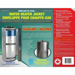 La mejor opción de manta de calentador de agua: CALENTADOR DE TANQUE DE AGUA CALIENTE DE L�MINA REFLECTANTE 40 galones