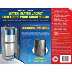 La mejor opción de manta de calentador de agua: AISLAMIENTO DEL CALENTADOR DEL TANQUE DE AGUA CALIENTE DE L�MINA REFLECTANTE