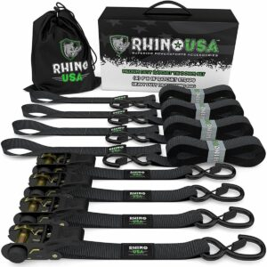 La mejor opción de correas de trinquete: correas de trinquete RHINO USA (4PK)