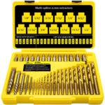 La mejor opción de extractor de tornillos: juego de brocas y extractor de tornillos Topec de 35 piezas